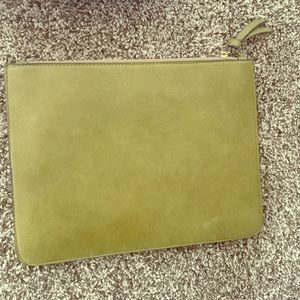 Olive green envelope clutch!